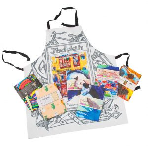 HY Adjustable Bib Apron Masterchef Linen Apron Custom Packaging
